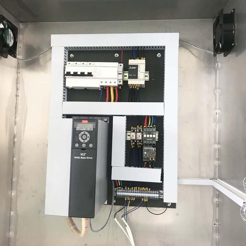 Mitsubishi PLC System + Danfoss transducer